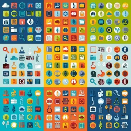 Série d'icônes de médecine