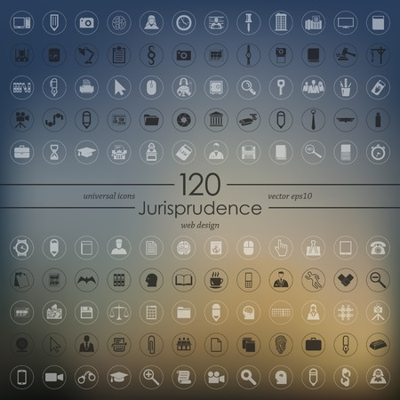 giurisprudenza: Set di icone di giurisprudenza