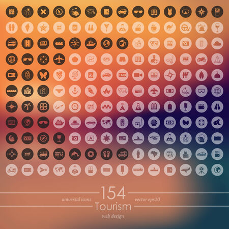 symbol tourism: Set of tourism icons