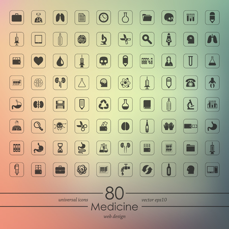 simbolo medicina: Conjunto de iconos de la medicina