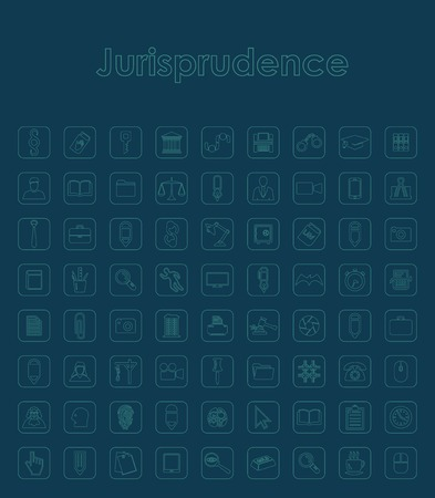 giurisprudenza: Set di icone semplici giurisprudenza