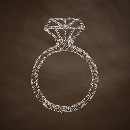 diamond background: ring icon Illustration