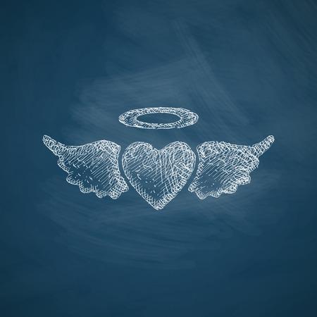 seducer: heart angel icon Illustration