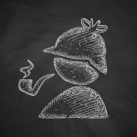 sherlock holmes: detective icon Illustration