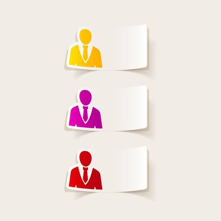 realistic design element: office people Vector