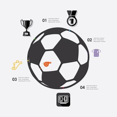 linesman: football infographic Illustration