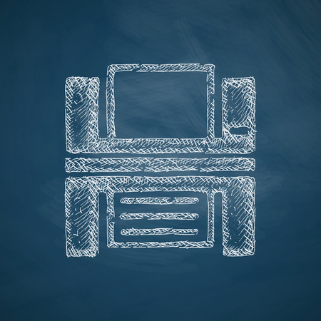 printed machine: printer icon Illustration