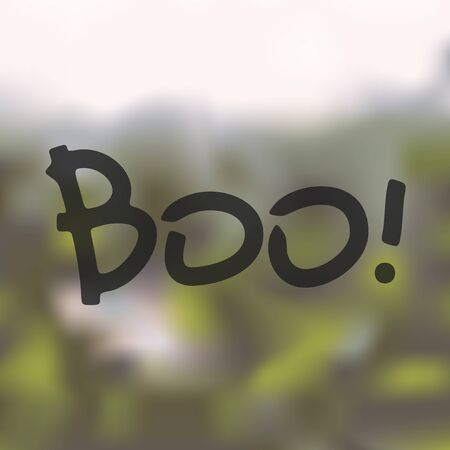 boo: boo icon on blurred background