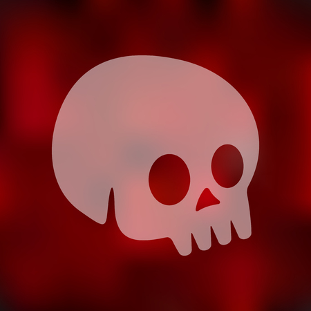 skull icon: skull icon on blurred background