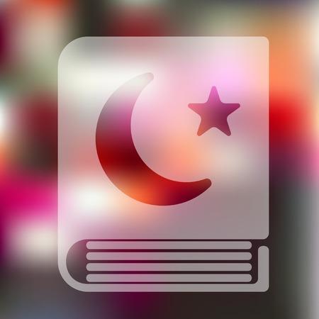 koran: koran icon on blurred background Illustration