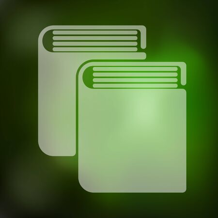 book icon on blurred background Vector