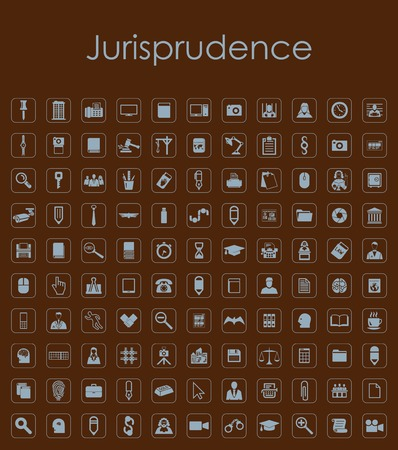 juror: Set of jurisprudence simple icons