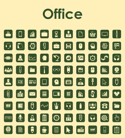 Conjunto de iconos simples de oficina Foto de archivo - 36420503