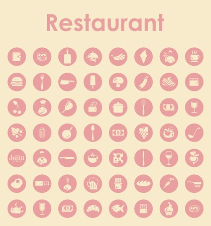 restaurant people: Set of restaurant simple icons