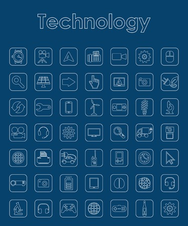 complex system: Set of technology simple icons