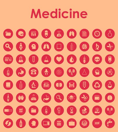 Set of medicine simple icons Vector