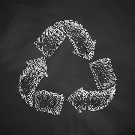 environmental analysis: recycle sign icon
