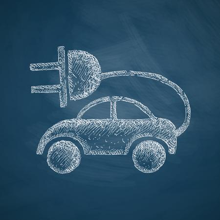eco car: eco auto pictogram