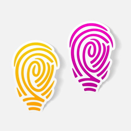 realistic design element: fingerprint Vector