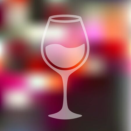 sourness: wineglass icon on blurred background
