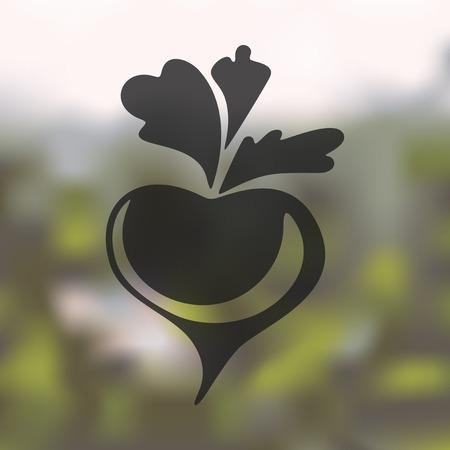 beet: beet icon on blurred background Illustration