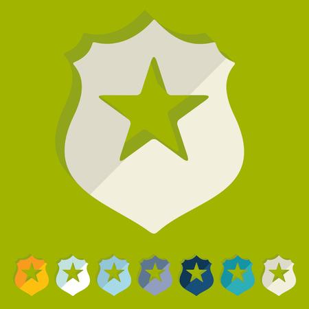 Flat design: police badge