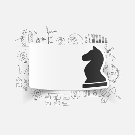 drawing business formulas. chess Vector