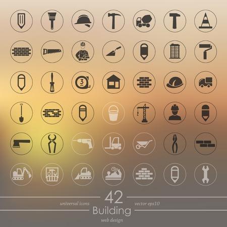 builder symbol: Set of building icons
