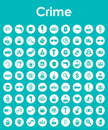 questioning: Set of crime simple icons