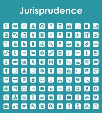 jurisprudence: Set of jurisprudence simple icons