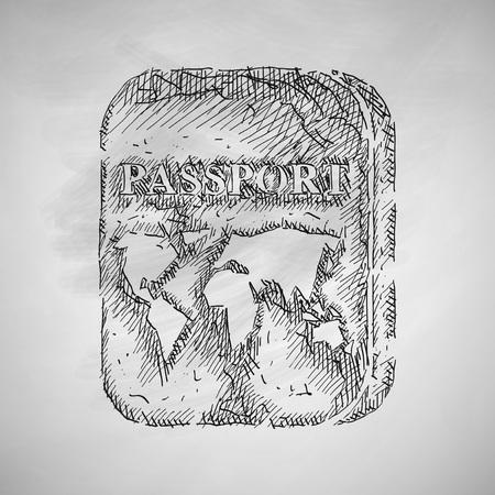 diplomatic: passport icon Illustration