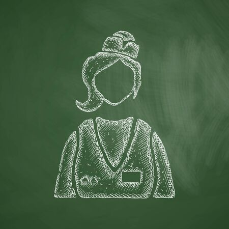 specialty store: saleswoman icon Illustration