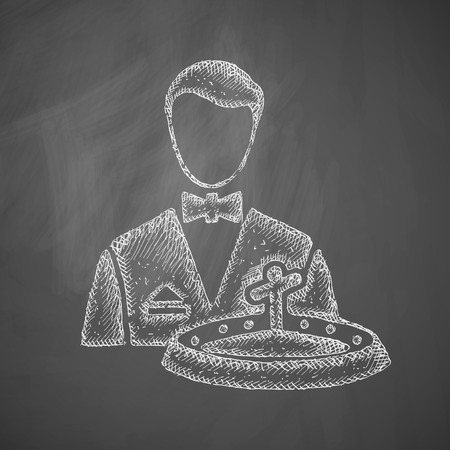 casino dealer: dealer casino icon Illustration