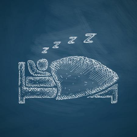 Icône du sommeil Banque d'images - 36530229