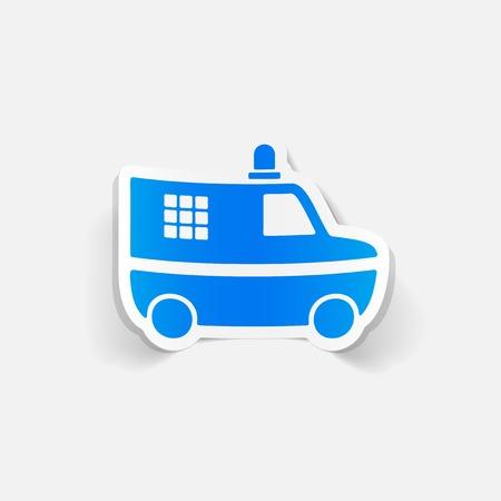 realistic design element. police car Vector