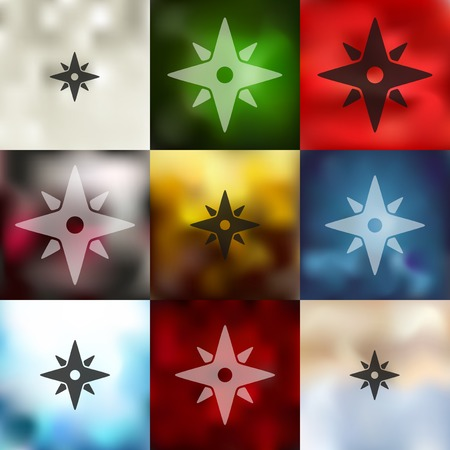 azimuth: compass icon on blurred background
