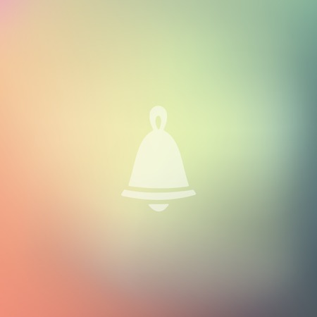 christmas bell: christmas bell icon on blurred background Illustration
