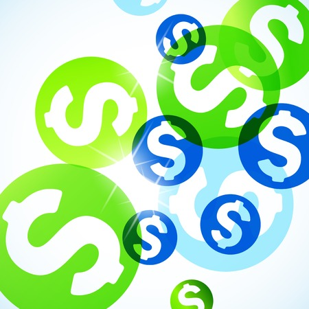 abstract background: money
