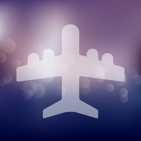 fuselage: plane icon on blurred background Illustration