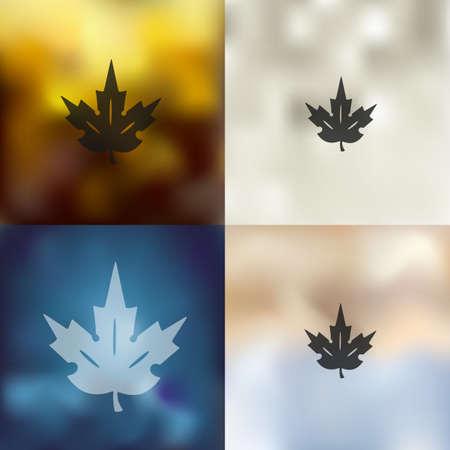 chlorophyll: leaf icon on blurred background Illustration
