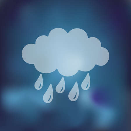 prognosis: cloud, rain icon on blurred background