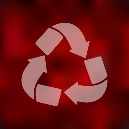 recycle sign: recycle sign icon on blurred background