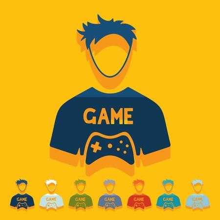 Platte ontwerp: gamer Stock Illustratie