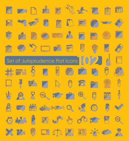 jurisprudencia: Conjunto de iconos de jurisprudencia