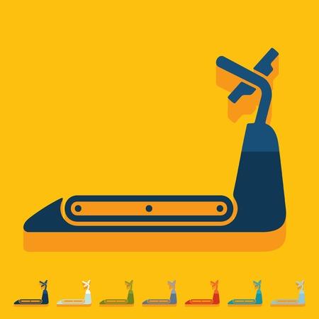 scamper: Flat design: treadmill Illustration