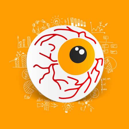 Drawing business formulas: eye Vector