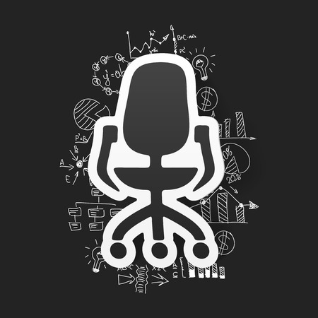 ofis koltuğu: drawing business formulas. office chair