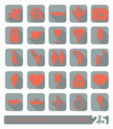 inclination: Set of Valentines Day icons