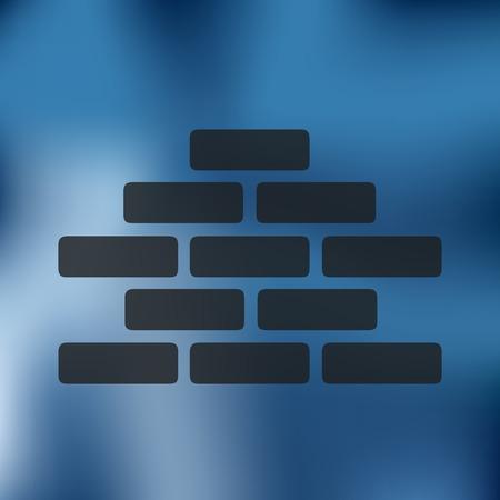 brickwork icon on blurred background Illustration
