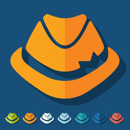 fashion story: Flat design: hat Illustration